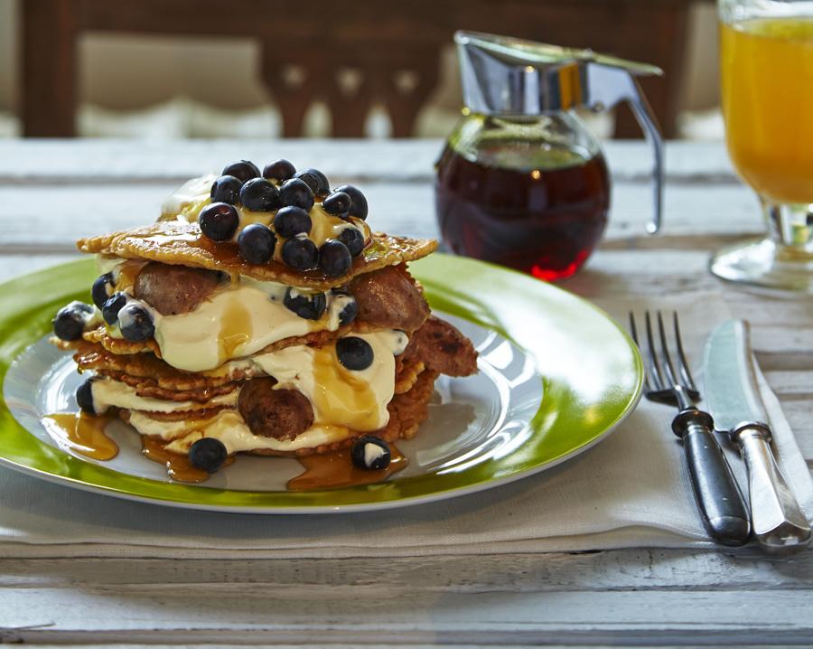Gluten free sausage pancake stack recipe for Award winning pancake recipe
