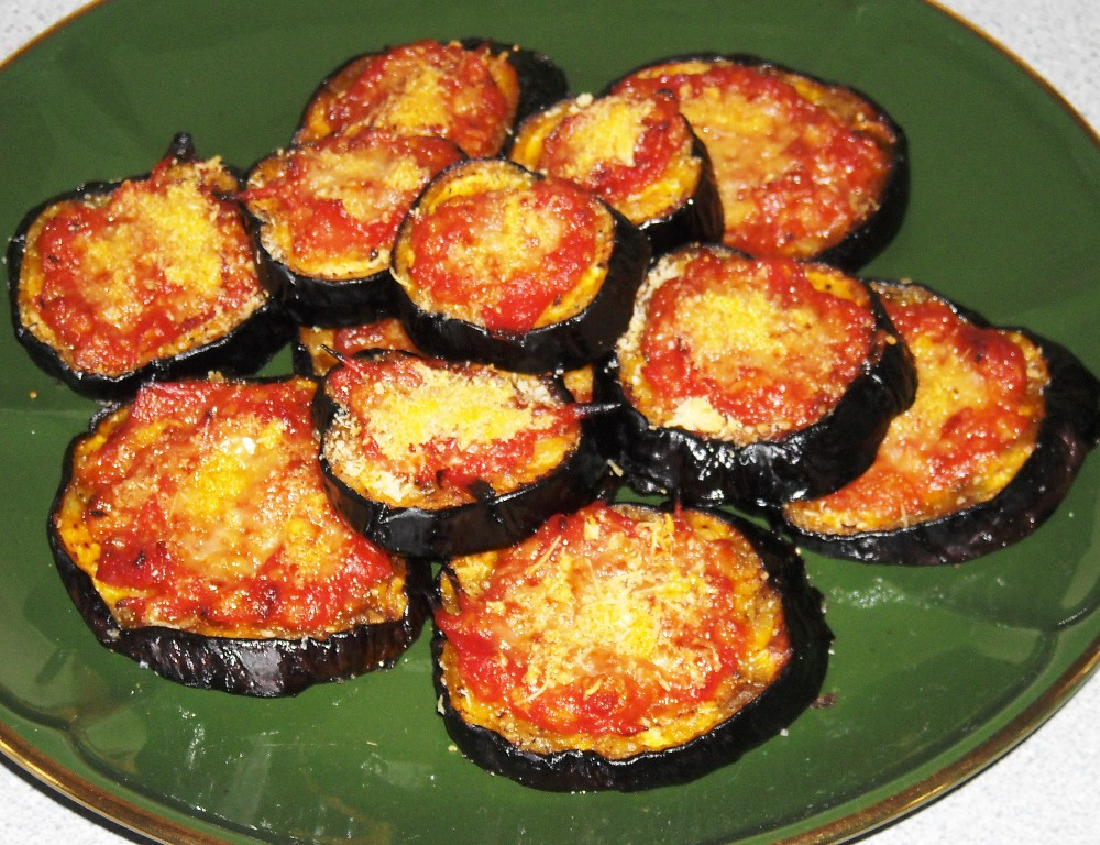 Baked aubergines with tomatoes and Parmesan a cheese recipe