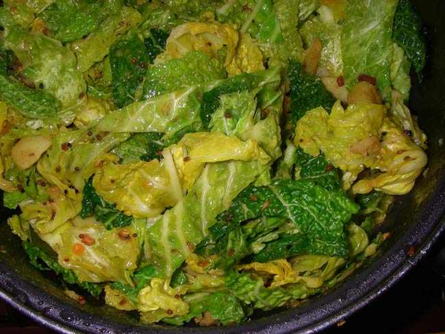 Boiled Cabbage Vegetarian Recipe