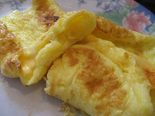 Cheese omelette a cheese recipe
