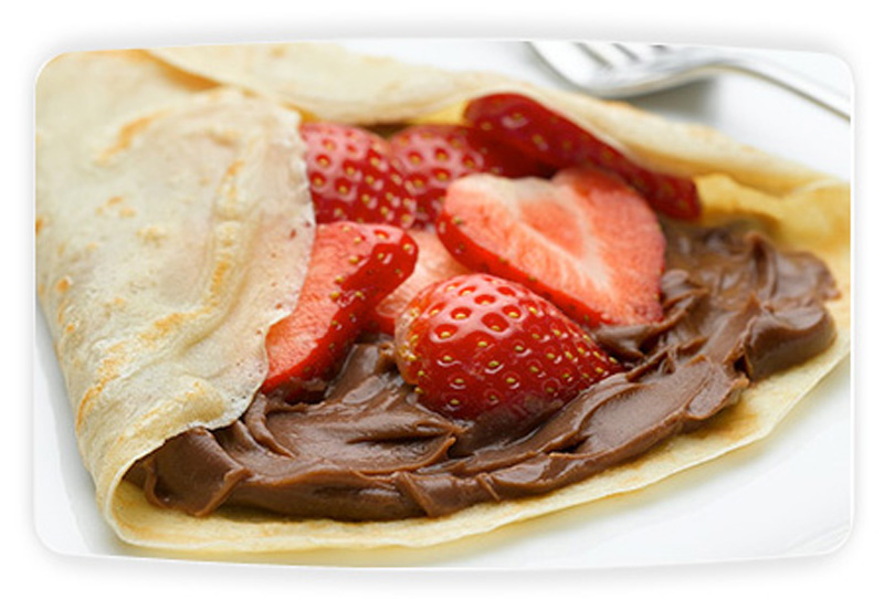 Chocolate And Strawberry Pancakes