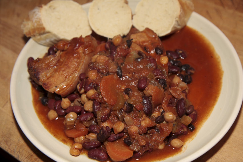 Pork and Bean Cassoulet, Meat recipe