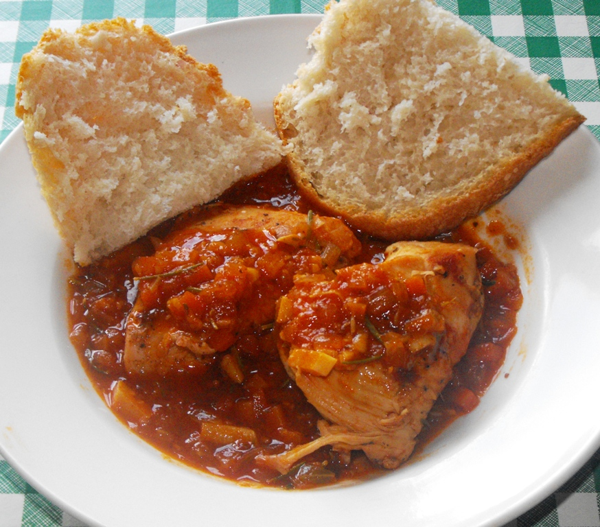 Pollo in potacchio, Italian recipe