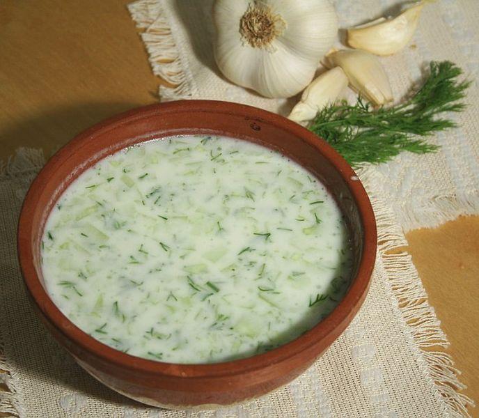 Chilled yogurt, Vegetarian recipe