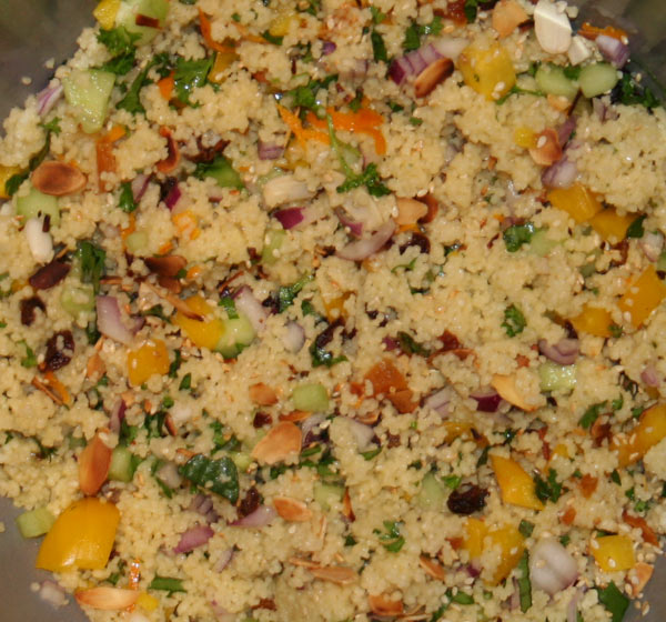 Colourful couscous recipe accompaniments for Couscous food recipe