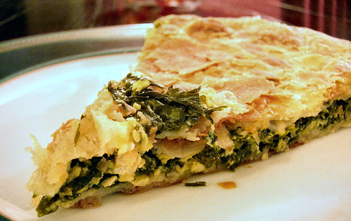Byrek me spinaq spinach pie a cheese recipe for Albanian cuisine
