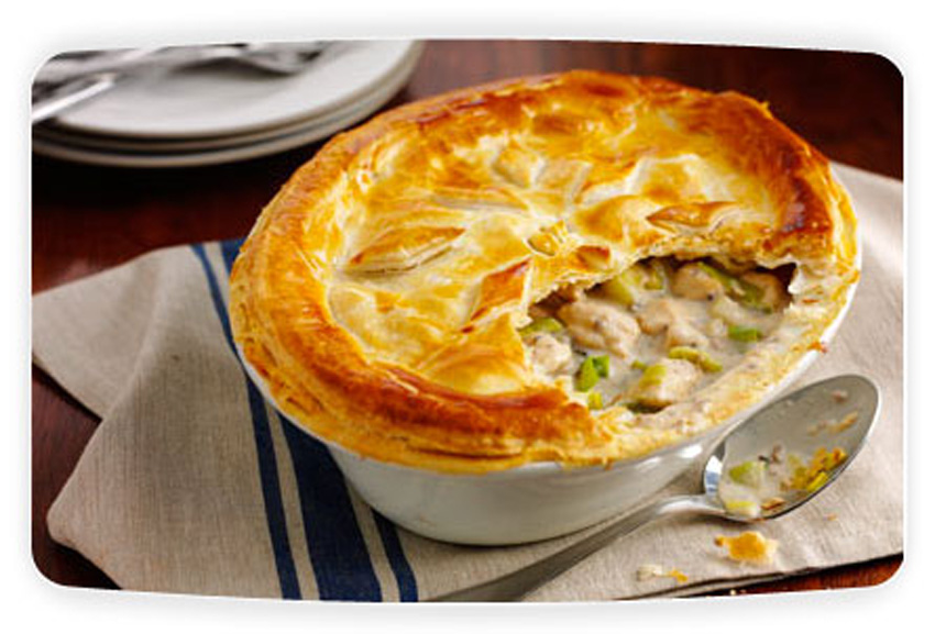Chicken and Leek Pie with Simply Stir Mushroom a meat recipe