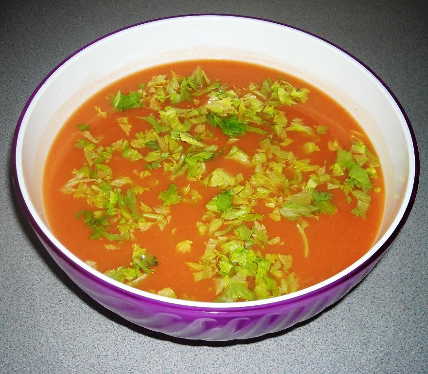 Gazpacho ligero con mostaza a Spanish recipe