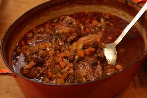 Oxtail stew in Guinness