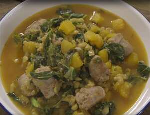 Sausage, Kale and Bean Stew