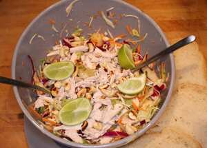 Thai turkey salad with mint and chilli