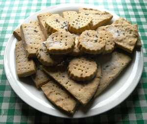 Chestnut flour shortbread