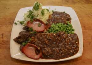 Classic liver and bacon with onion gravy