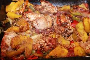 Chicken and butternut squash with sage and walnuts