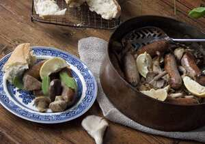 Sausage, mushroom, lemon and thyme pot roast (GF)