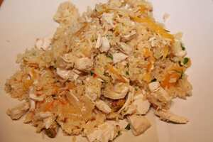 Chicken and orange pilaf