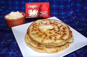 Dragon Welsh cheddar cheese pancakes