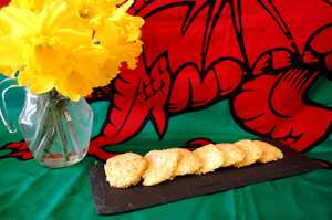 St David's Day cheesy biscuits