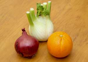 Fennel, red onion and orange salad Accompaniments recipe