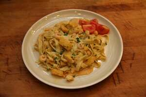 Basa and prawn tagliatelle