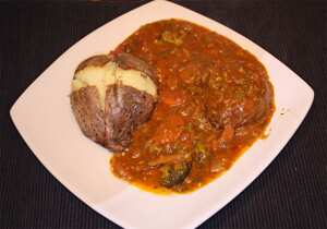 Slow-cooked shin of beef