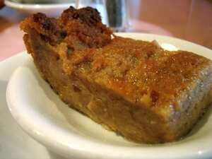Old fashioned spicy bread pudding