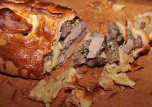 Bulgarian lamb in pastry