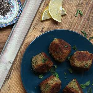 Courgette and Halloumi Falafels