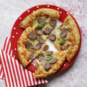 Make this sausage pizza with your kids