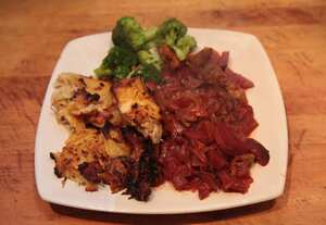 Lamb and beetroot casserole