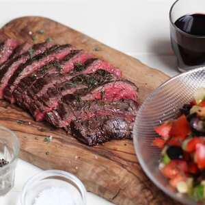Thyme and Lemon Bavette with Turkish Salad