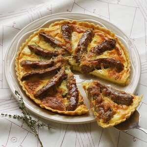 Gluten free sausage and thyme quiche