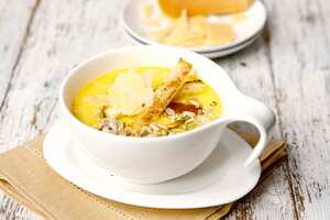 Creamy butternut squash soup with Džiugas cheese