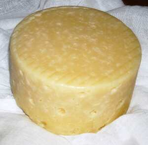 Home-made Derby cheese