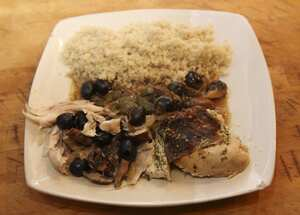 Pot Roasted Mediterranean Chicken