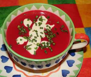 Beetroot and apple soup