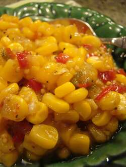 Sweetcorn relish (V)