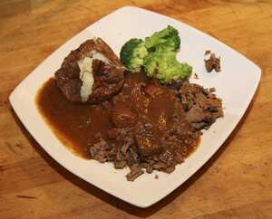 Silverside of beef in a pressure cooker (PC)