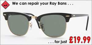 ray ban sunglasses broken  RayBan Sunglasses repair specialists. Rayban Side Arms, Ray Ban ...
