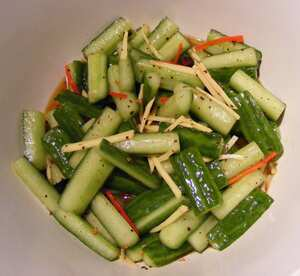 Spicy Sichuan cucumber