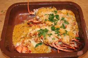 Lobster thermidor, British recipe