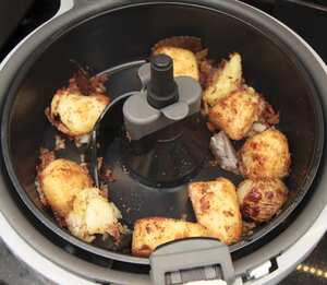 Air fried roast potatoes
