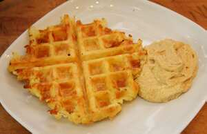 Easy potato waffles (using a waffle iron)