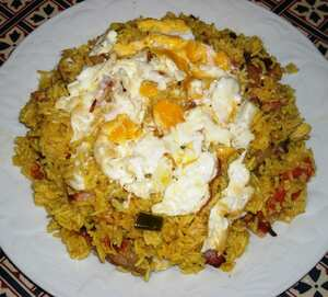 'Greasy spoon' kedgeree