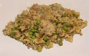 Beef and pea pilaf