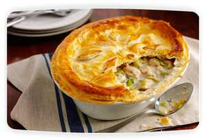 Chicken And Leek Pie With Simply Stir Mushroom