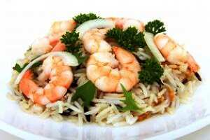 Garnalen rijstsalade (Prawn and rice salad)