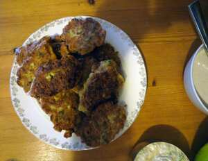 Cauliflower and turmeric fritters