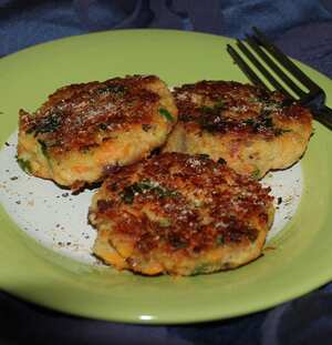 Bean and cheese patties