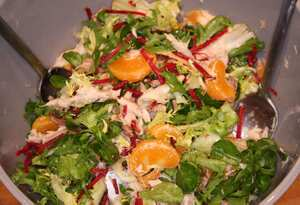 Smoked mackerel and tangerine salad